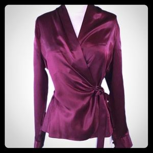 The Limited Silk Wrap Around Blouse